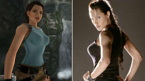 Lara Croft, en una de sus primeras entregas; Angelina Jolie, caracterizada
