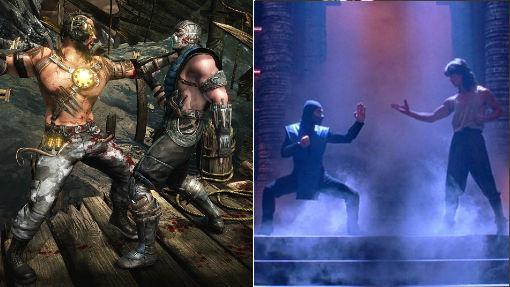 Captura de «Mortal Kombat X» y un fotograma de la película