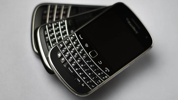 Detalle de un modelo de BlackBerry