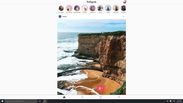 Instagram se instala en Windows 10