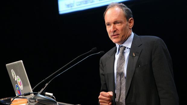 Tim Berners-Lee, en una imagen de 2009, durante una conferencia en Madrid