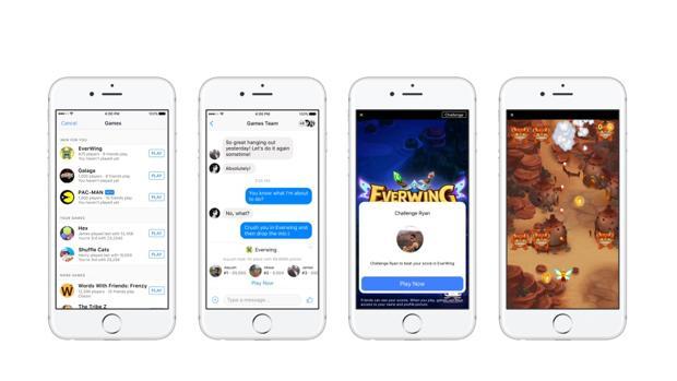 Detalle de Instant Games, nuevo servicio de Facebook