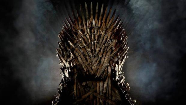 Detalle del trono de hierro, en «Juego de Tronos»
