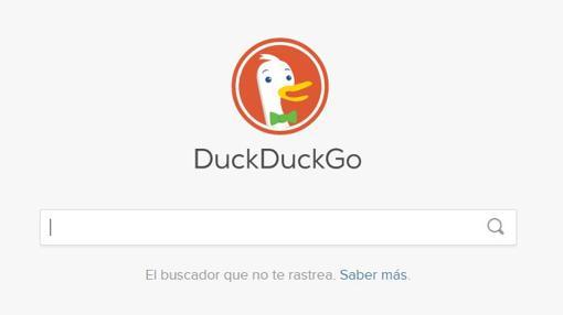 Captura de pantalla del buscador DuckDuckGo