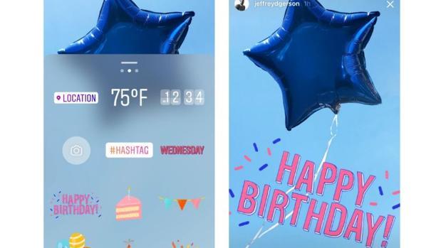 Captura de pantalla del aniversario de Instagram Stories