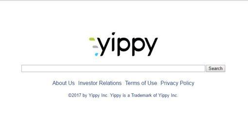 Captura de pantalla del buscador Yippy