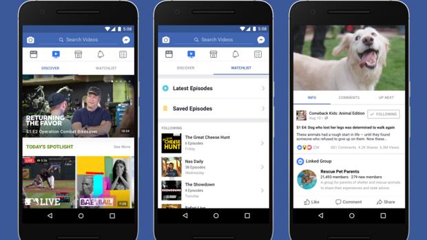 Facebook:  Llega Facebook Watch, un «YouTube» integrado en la red social
