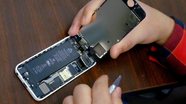 Reemplazo de una batería de iPhone