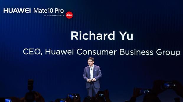 El CEO de Huawei, Richard Yu, durante su exposición en el CES 2018
