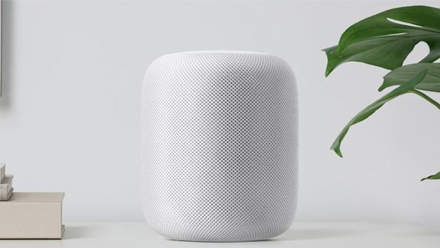 Detalle del HomePod con el que la firma americana quiere dar el salto a los altavoces inteligentes