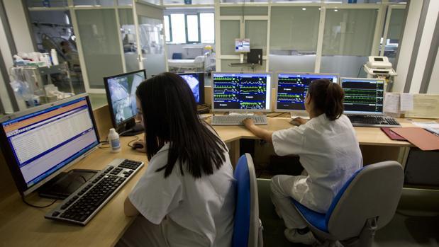 Unidad de cuidados intensivos del Hospital de Móstoles