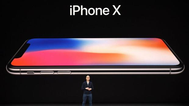 Tim Cook, consejero delegado de Apple, durante la presentación del iPhone X