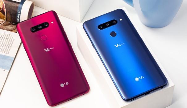 Detalle del nuevo móvil de la firma surcoreana LG, el V40