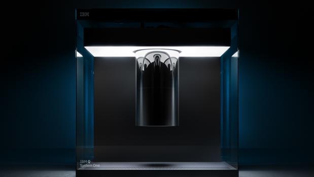 El modelo IBM Q System One mide casi 3 metros de ancho