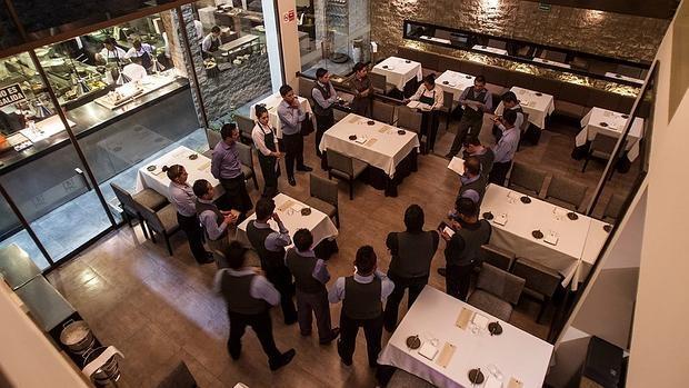 El equipo de Central, en una reunión en el restaurante