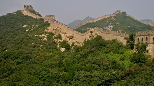 Tramo de la Gran Muralla en Badaling, uno de los más visitados por su cercanía a Pekín