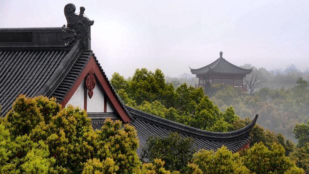 Monte Wu desde la Pagoda Chenghuang, Hangzhou