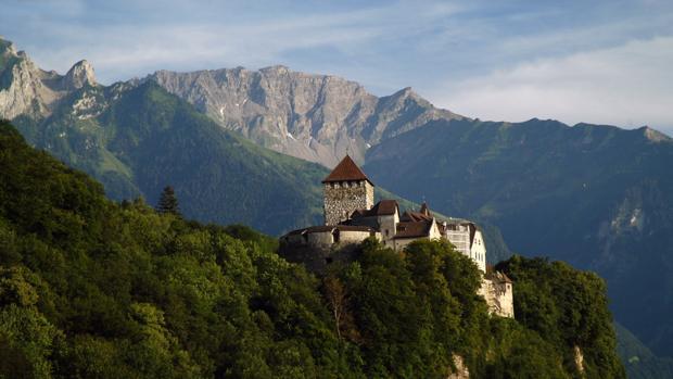 El castillo de Vaduz, en Liechtenstein.