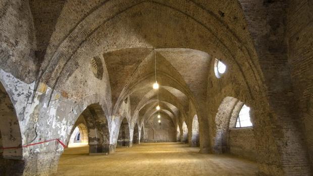 Arcos interiores en las Reales Atarazanas de Sevilla. Fuente: iaph.es
