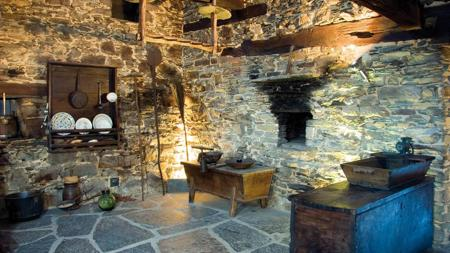 Interior de la casa natal del Marqués de Sargadelos, cerca de Santa Eulalia de Oscos
