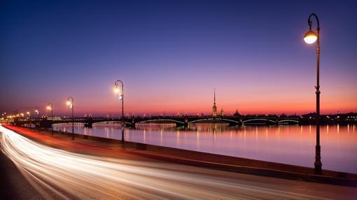 El río Nevá, en San Petersburgo