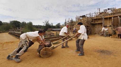 Técnicas de trabajo medievales en Guedelon