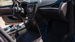 Interior del coche de Uber