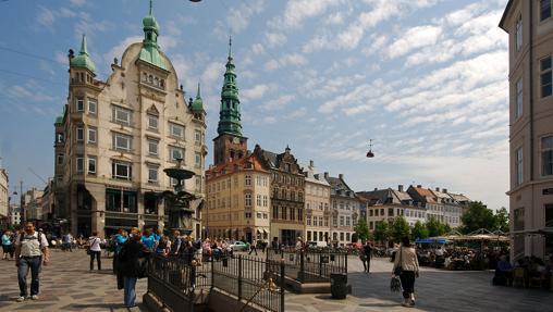 Strøget, la zona peatonal de Copenhague