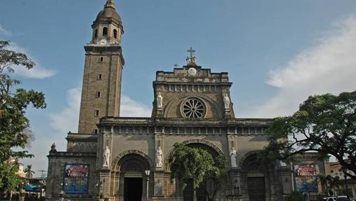 La catedral de Manila, levantada por primera vez en 1581