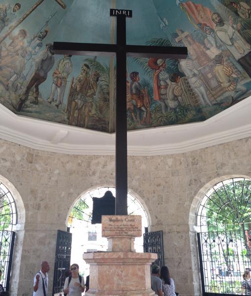La cruz de Magallanes, principal huella de la conquista española