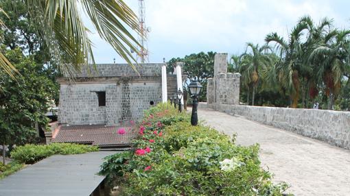 Interior del Fuerte San Pedro, primera construcción militar defensiva española en Filipinas