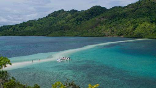 Snake Island: una lengua de arena blanca que adquiere distintas formas cuando baja la marea