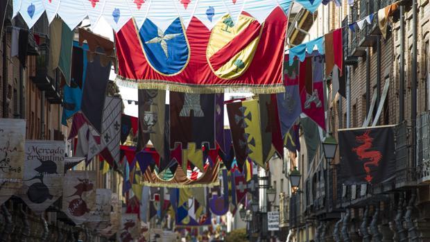 Detalle del Mercado Cervantino de Alcalá de Henares
