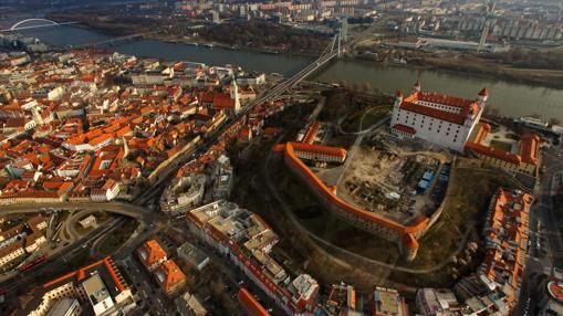 Bratislava, junto al danubio