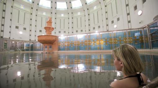 Un spa de Piestany, la ciudad balneario más importante de Eslovaquia