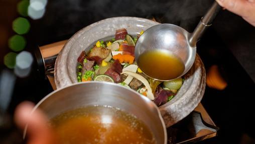 Uno de los platos de Yamamoto elaborados con productos del cerdo