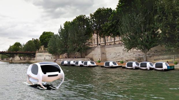 Así es el vehículo futurista que navegará por el Sena
