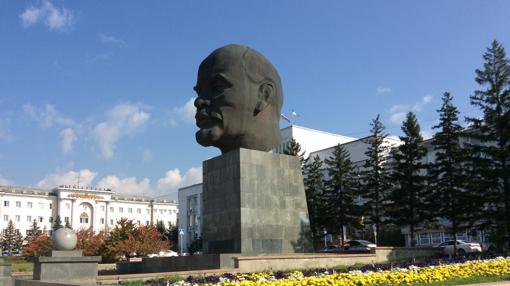 Busto de Lenin en la plaza de los Sóviets, en Ulán-Udé