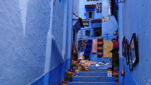Callejuela azul en Chefchaouen