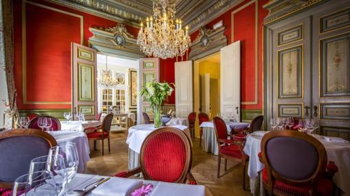 Comedor del hotel Heritage, en Brujas