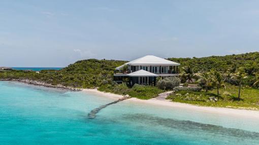 Una de las villas del hotel Over Yonder Cay en Bahamas