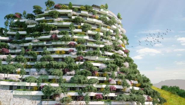 Un hotel transformado en bosque