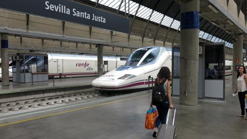 Estación de Santa Justa, en Sevilla