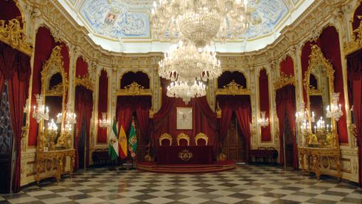 Interior de Palacio Provincial, sede de la Diputación de Cádiz