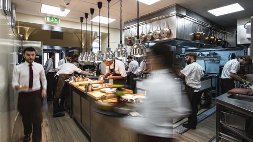 Ambiente de la cocina de Belcanto