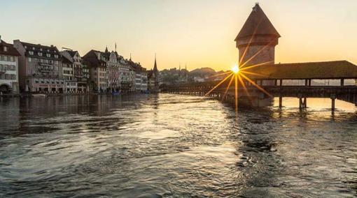 Uno de los puentes de Lucerna