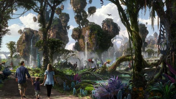 Recreación del parque Pandora, dentro del Walt Disney resort de Orlando