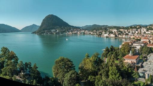 Panorama de Lugano, con su lago