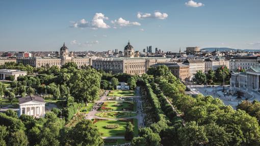 Vista de Viena, ciudad clave en la ruta romántica