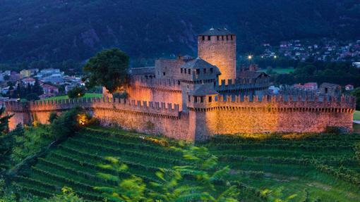 Uno de los castillos de Bellinzona